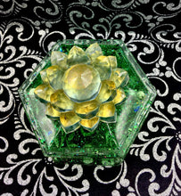 Load image into Gallery viewer, Magnetized Color Shifting Crystal Dice/ Trinket Box