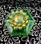 Magnetized Color Shifting Crystal Dice/ Trinket Box