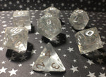 'Titania's Armor' Handmade Semi-Translucent Holographic Gaming Dice Set