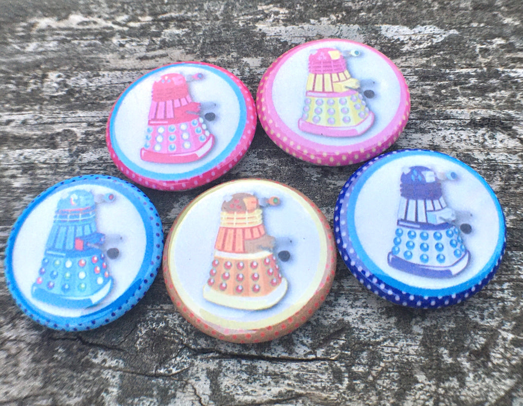 Cute n' Colorful Dalek Pin Set