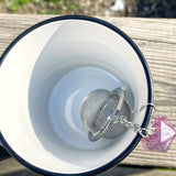 Handmade D20 Accented Loose Leaf Tea Ball Strainer