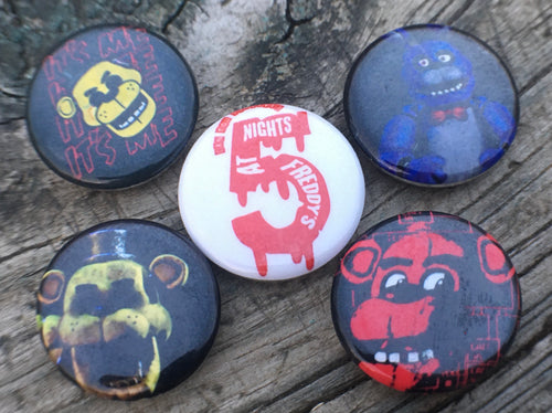 Five Nights at Freddy's Fandom Pinback Button Set