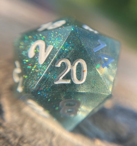 'Forest Guardian' Handmade Sharp Edged Gaming D20 Dice