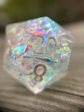 Load image into Gallery viewer, 'Unicorn Tears' Custom Ink Sharp Edge Gaming D20