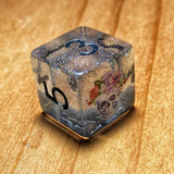 'A Beautiful Death' Translucent Holo Shimmer Handmade D6 Gaming Dice