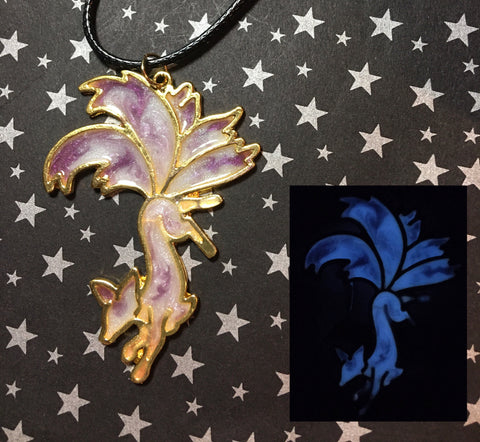 Glow in the Dark Nine Tail Fox Pendant Necklace