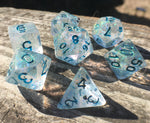'Eldritch Blast' Shimmery Handmade Polyhedral Gaming Dice Set