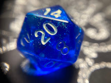 Load image into Gallery viewer, Shimmery Deep Blue Handmade Gaming D20 Dice