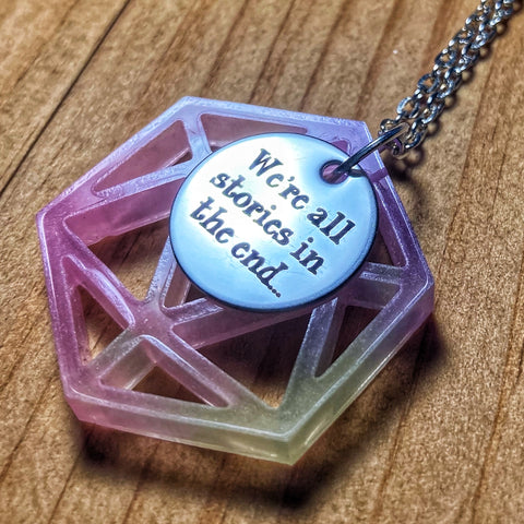 'Stories' Pastel D20 Pendant Necklace