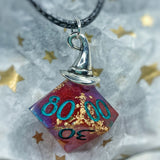 """Yer a Wizard, Molly"" Handmade D10 Dice Pendant Necklace"