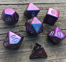 Load image into Gallery viewer, 'False Prophet'- Handmade Metallic Resin Color Shifting Gaming Dice D20 or Set