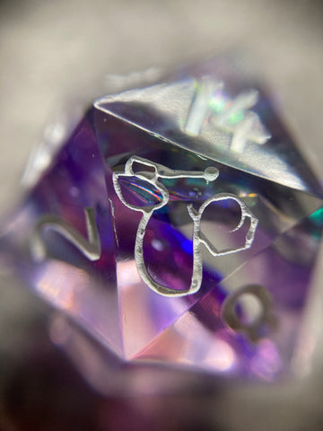 'Into the Fade' Handmade Sharp Edged D20 Gaming Dice
