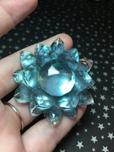Load image into Gallery viewer, Iridescent Green/Blue Resin Large Crystal Hair Clip