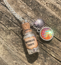 Load image into Gallery viewer, Mermaid Tears Potion Bottle Necklace