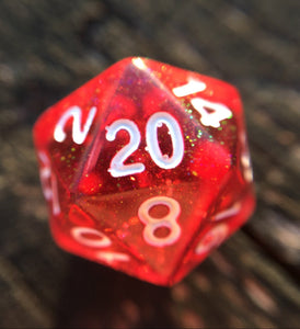 Surtr Translucent Red Bifröst Gaming D20