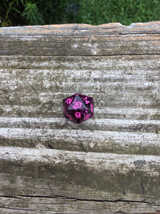 'Girls Just Wanna Have Fun' 80's Music Inspired Handmade Sharp Edged D20 Dice
