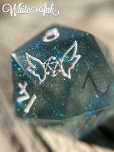 Load image into Gallery viewer, 'Forest Guardian' Custom Ink Handmade Precision Gaming Dice Set