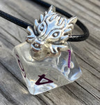 """Sleeping Dragon"" Handmade D10 Pendant Necklace"