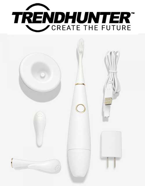 The Apa Cpean White Sonic Toothbrush Soothes & Promotes Healthy Gums