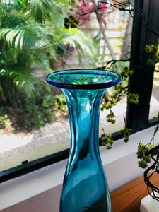 Set of Two Modern Teal Vases