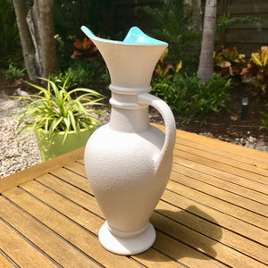 Royal Haeger White Pebble Texture Pitcher