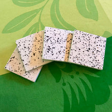 Load image into Gallery viewer, Set of 4 White Terrazzo Marble Square Coasters