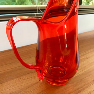 Viking Orange Stretch Pitcher / Vase