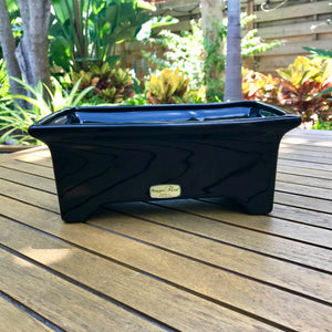 Black Haeger Oblong Planter