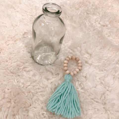 Mini Wood Bead Tassel