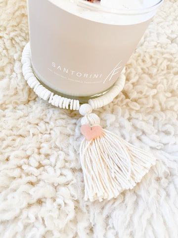 Candle Tassel With Clay Charm