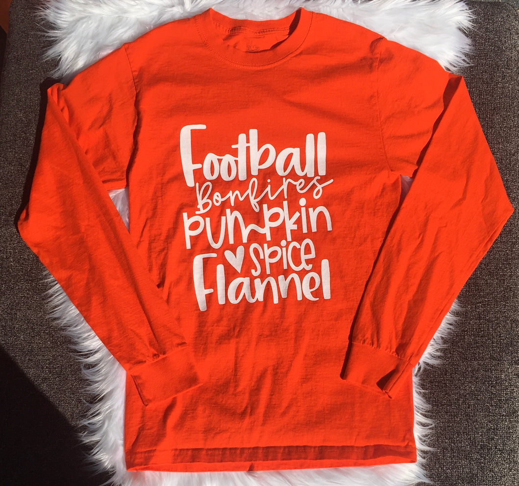 Football & Flannel Tee (Adult)