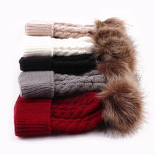 Load image into Gallery viewer, Pom-Pom Top Knit Beanies