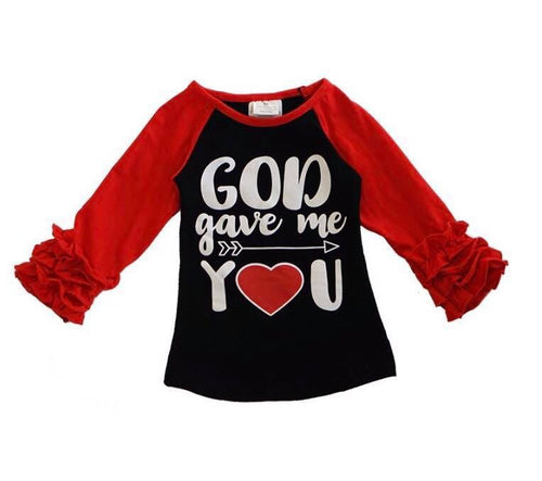 God Gave Me You Icing Raglan