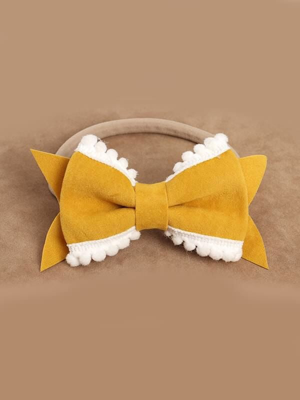 Pom Trim Bows on Nylon