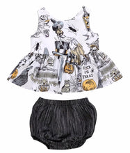 Load image into Gallery viewer, Halloween Peplum & Shortie Set