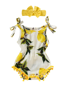 Lemon Romper with Bow