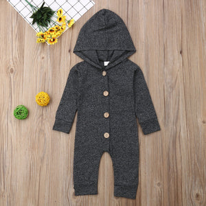 Hooded Heather Jumpsuit