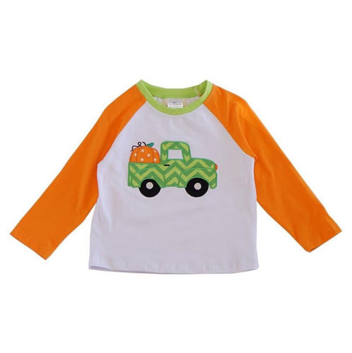 Chevron Truck with Pumpkin Raglan