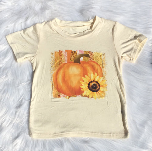 Cream Pumpkin & Sunflower Tee