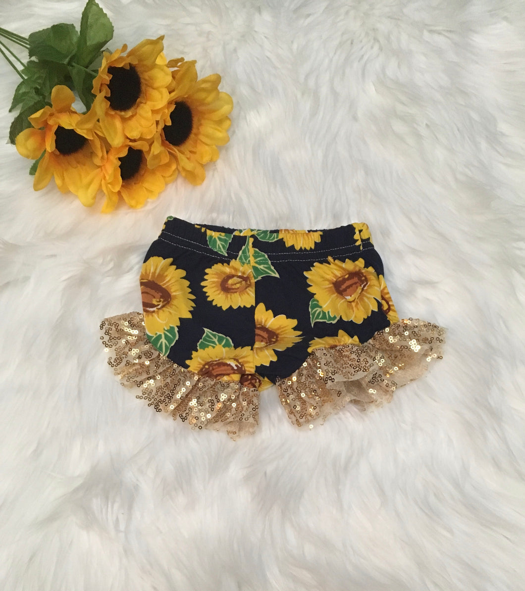 Sunflower Ruffle Shorties