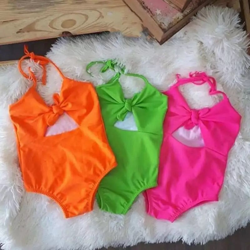 Neon Knotted Swimsuit