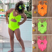 Load image into Gallery viewer, Neon Knotted Swimsuit