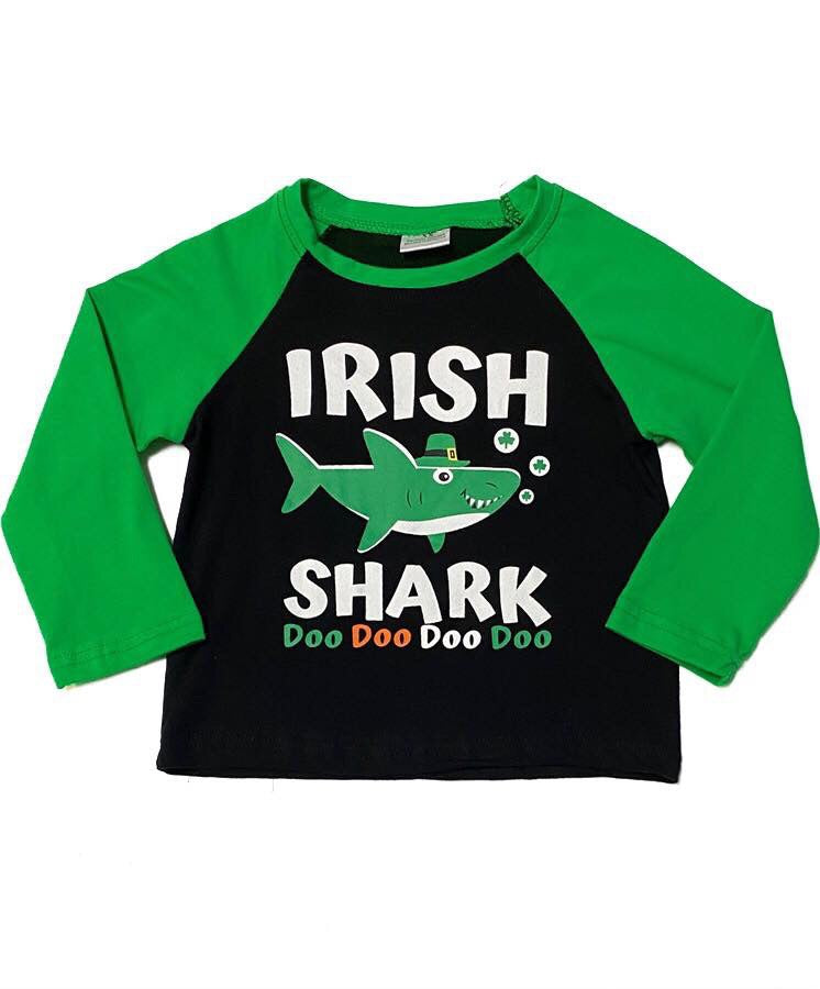 Irish Shark Raglan