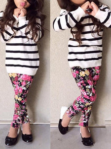 Stripe Sweater & Floral Pants