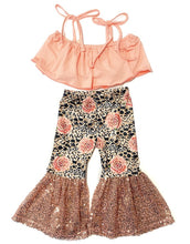 Load image into Gallery viewer, Coral Crop + Leopard & Rose Sequin Belles