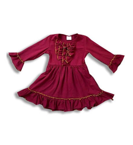 Maroon Ruffle Tunic Top