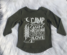 Load image into Gallery viewer, Camping Love Tiny Tee