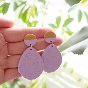 Dot & Fan Earrings, Detail | Curious Makers