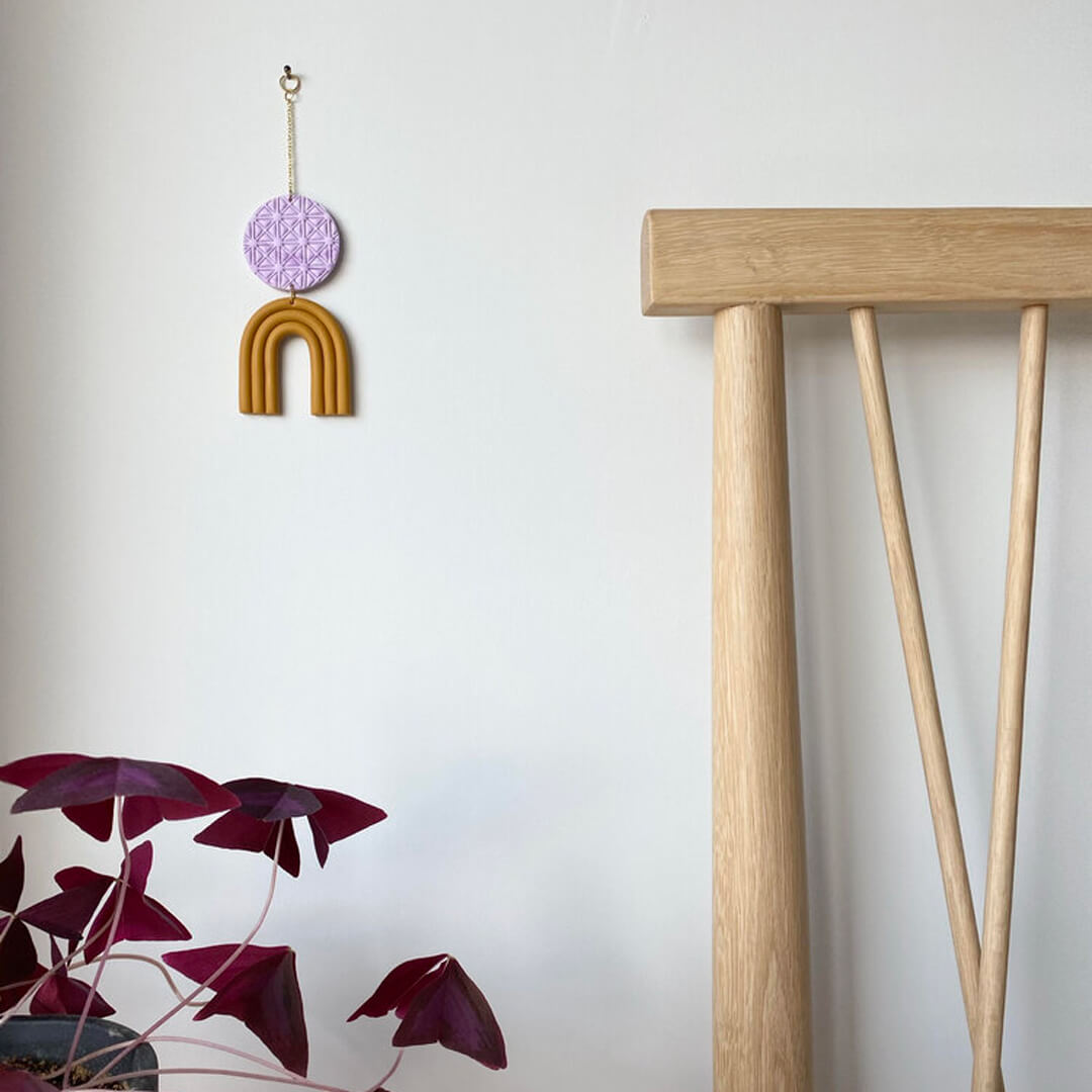 Mini Wall Hanging, Mustard and Lilac | Curious Makers