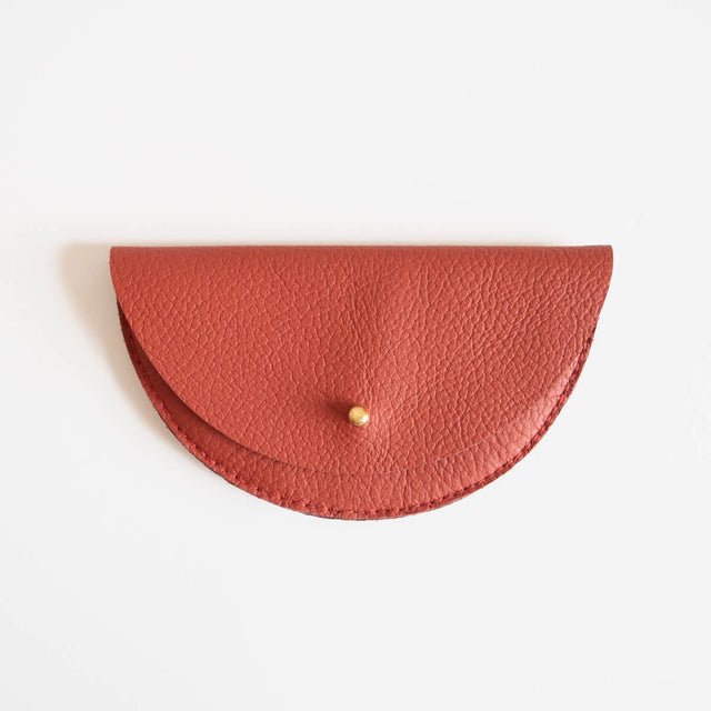 Colette Grande Coin Purse, Rust | Curious Makers